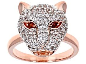 White Zircon Copper Ring
