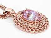Pink Salmon Sensation™ Quartz Copper Enhancer With Chain 10.32ctw