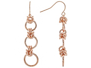 Copper Byzantine Link Dangle Earrings