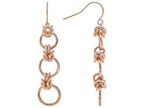 Copper Byzantine Link Dangle Earrings
