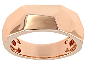 Copper Honeycomb Design Band Ring