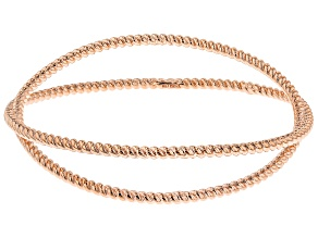 Copper Twisted Cord Bangle Bracelet