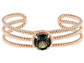 Copper Morning Mist™ Quartz Twisted Cord Cuff Bracelet 7.01ct