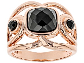 Copper Black Spinel Ring 2.97ctw