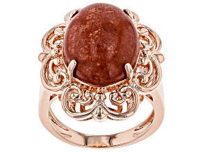 Copper Red Coral Ring