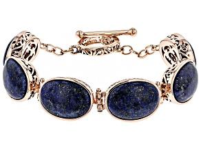 Copper Lapis  Bracelet