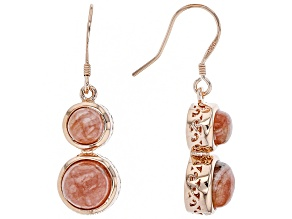Copper Rhodochrosite Dangle Earrings