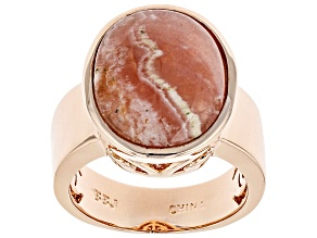 Copper Rhodochrosite Ring