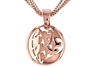 Copper Openwork Heart Design Enhancer With Chain