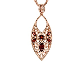 Timna Jewelry Collection™ Red Garnet Copper Enhancer With Chain