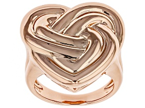 Copper Heart Knot Ring