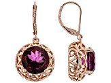 Unchanging™ Quartz Copper Dangle Earrings 10.45ctw