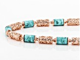 Turquoise Copper Station Necklace