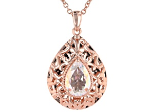 Multicolor Zero Jupiter™ Quartz Copper Pendant With Chain 3.42ctw