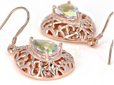 Zero Jupiter™ Quartz Copper Dangle Earrings 3.42ctw