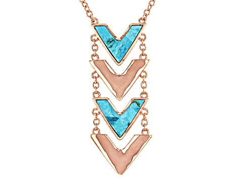 Turquoise Blue Copper Necklace