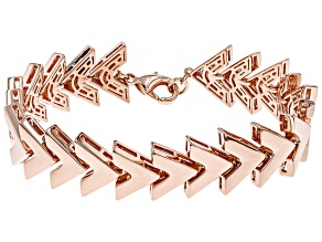 Copper Chevron Link Bracelet