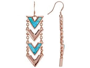 Turquoise Blue Copper Earrings