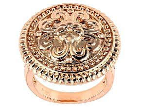 Copper Flower Medallion Ring