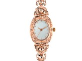 Copper Mother Of Pearl Dial Ladies Watch