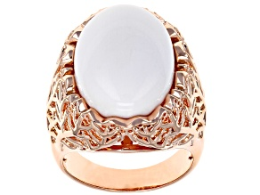 Copper White Onyx Ring