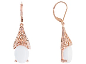 White Onyx Copper Earrings