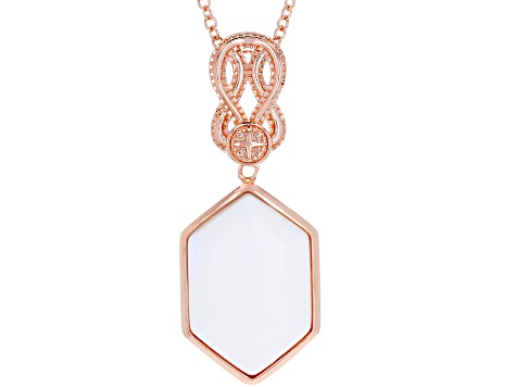 Copper White Onyx Pendant With Chain
