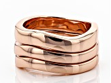 Copper Wavy Band 3-Ring Set