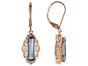 Copper RainDrops™ Quartz Dangle Earrings 2.72ctw