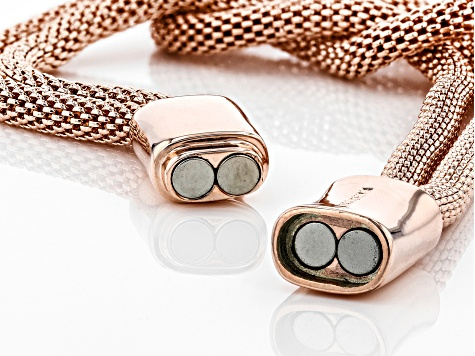 Copper Two-Strand Mesh Knot Bracelet