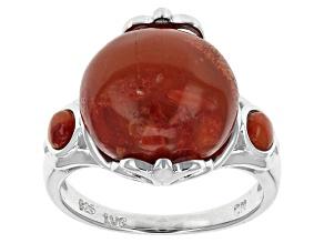 Sponge Coral Sterling Silver Ring
