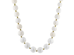 White Coral 18k Yellow Gold Over Sterling Silver Necklace