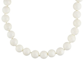 White Coral Bead Necklace.