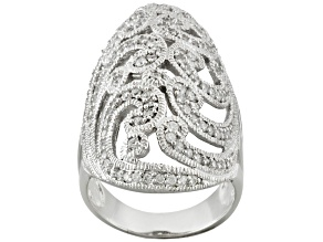 White Cubic Zirconia Sterling Silver Ring 1.55ctw