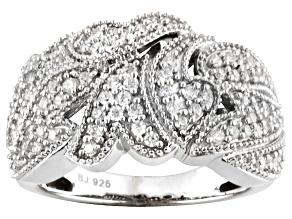 Cubic Zirconia Silver Ring 1.18ctw
