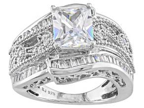 Cubic Zirconia Silver Ring 5.99ctw (3.85ctw DEW)