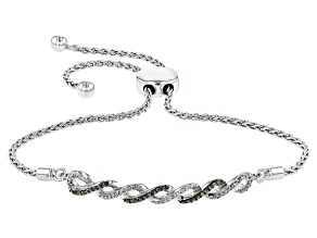 Champagne And White Diamond Bracelet .20ctw
