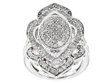 Diamond Silver Ring 2.00ctw