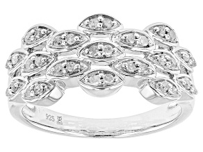 Diamond Rhodium Over Silver Ring .22ctw