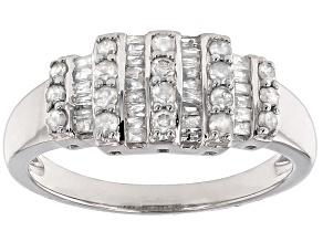 Diamond Silver Ring .55ctw