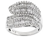 Diamond Rhodium Over Sterling Silver Ring 1.50ctw