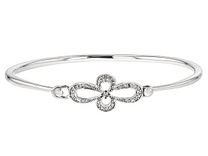 Champagne And White Diamond Silver Bracelet .19ctw