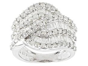 Diamond Rhodium Over Sterling Silver Ring 1.91ctw