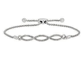 Rhodium Over Sterling Silver Diamond Bracelet .25ctw