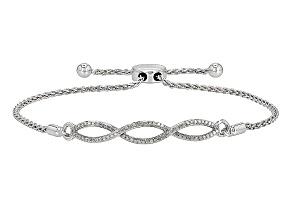 Rhodium Over Sterling Silver Diamond Bracelet .25ctw