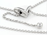 Diamond Rhodium Over Sterling Silver Necklace .10ctw