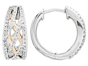Diamond Two-Toned Silver Earrings .33ctw