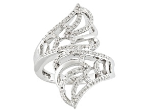Diamond Silver Ring .35ctw