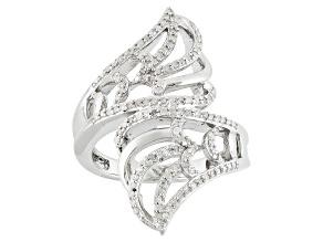 Diamond Silver Ring .35ctw