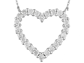 Diamond Sterling Silver Necklace 1.00ctw